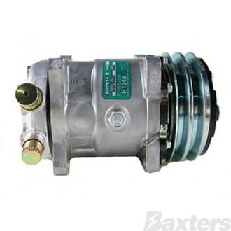 Compressor Sanden 4509 Suits Agco / Allis Tractor SD5H14 12V 2A 132mm VOR Ear Mount FL Head (Alternative to 6626)