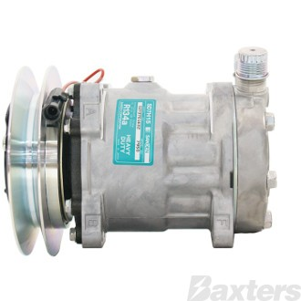 Compressor Sanden 6672 Suits Universal SD5H14 24V 1GC 158mm VOR Ear Mount FL Head