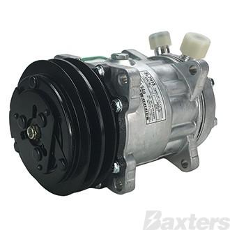 Compressor Aftermarket 7866 Sanden Type SD7H15 Suits Universal 24V 2GA 132mm VOR Ear Mount JE Head