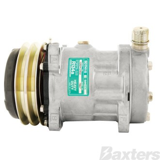 Compressor Sanden 8018 Suits Universal SD7H15 12V 2GA 132mm VOR Ear Mount JE Head (Alternative to 7867)