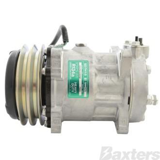Compressor Sanden 7991 Suits Hitachi SD7H15 24V 2GA 132mm V/Pad Ear Mount WL Head Hitachi Excavator EX2500 5500