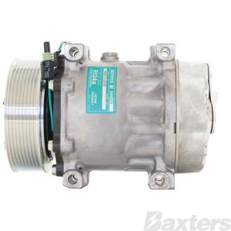 Compressor Sanden 8112 Suits Volvo Truck SD7H15HD 24V 8PV 132mm Hor Special Pad Direct Mount WZ Head FH12 FM Series