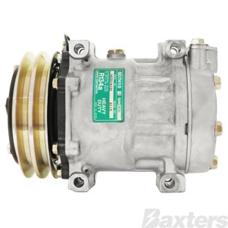 Compressor Sanden 8115 Suits Isuzu SD7H15 24V 2GA 132mm V/Pad Direct Mount Short US Head Isuzu N Series Iveco