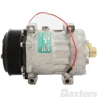 Compressor Sanden 8124A Suits Iveco SD7H15 12V 8PV 119mm HTO Direct Mount Short MD Head