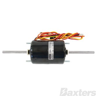 Electric Motor Vented Dual Shaft 12V 3 Speed