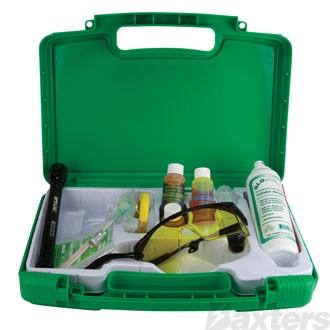 Tracerline Starter Leak Detector Kit Includes Cordless Torch Glasses Dye & Injector