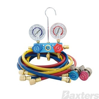 "Manifold Gauge Set R134a With 72"" Hoses And Couplers"