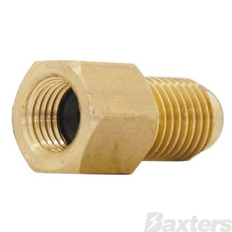 "Adaptor R12 To R134a (1/4"" Female Flare to 1/2"" Male ACME)"
