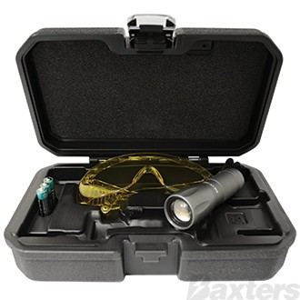 Led UV Leak Detector UV Torch UV Glasses With Carry Case