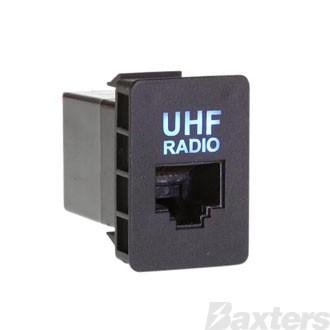 Aerpro UHF Radio Microphone RJ45 Pass Through Connector Suit Various Toyota (Use RPSW2005)