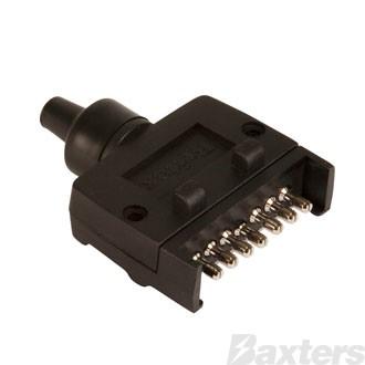 TRAILER PLUG 7 PIN FLAT PLASTIC - BRITAX
