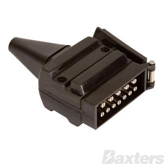 TRAILER PLUG 12 PIN FLAT PLASTIC - BRITAX