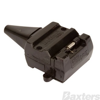 12 Pin Flat Plastic Trailer Socket (Britax) Clam Shell ** Can Use BTC-12S **