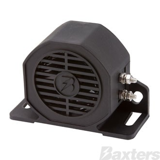 Baxters Reverse Alarm Self Adjusting Beep Sound 12-24V, 82-102dB Black Nylon Material IP67