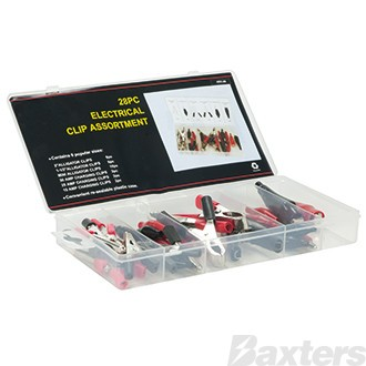 Battery Clip Kit 28 Piece 6 Assorted Sizes Insulated