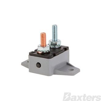 Circuit Breaker Plastic 12-24V 20A Manual Reset Type 90 Degree Mount