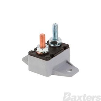 Circuit Breaker Plastic 12V 30A Auto Reset Type 90 Degree Mount