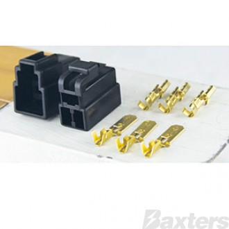 QK Series 250 Connector Kit Black 3 Way