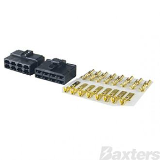 QK Series 250 Connector Kit Black 8 Way