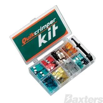 Fuse Kit Quikcrimp 100pcs And Fuse Puller 7 Different Fuse sizes