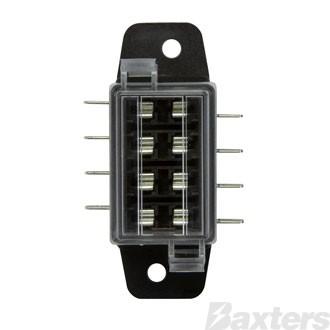 Fuse Holder Blade 4 Gang 12V 15A Max Per Circuit [Ea]