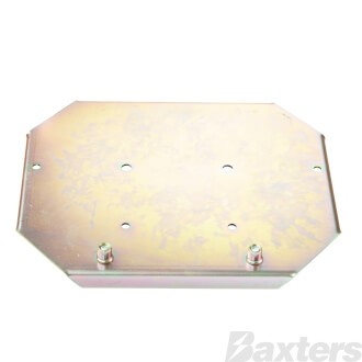 Battery Tray Suits Optima 34 Battery Laser Cut 2mm Steel Zinc Coated 250 x 209 mm