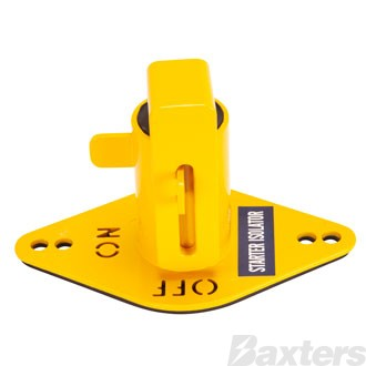 Battery Isolator Lockout Yellow With Cut Out ON/OFF Lettering
