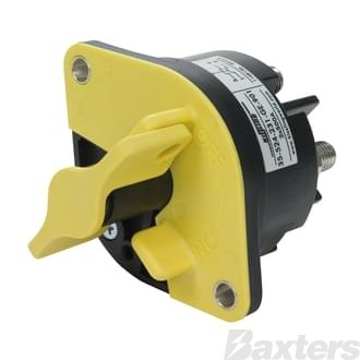 Switch Battery Master Kissling 12-32V 500A Double Pole Normally Open Lockable Yellow Handle