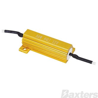 LED Load Resistor Twin Pack 12V 50W 6Ohm