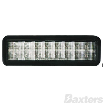 10-30V 16 Amber LED Rect 159 x 49mm Clear Lens Grommet Mount