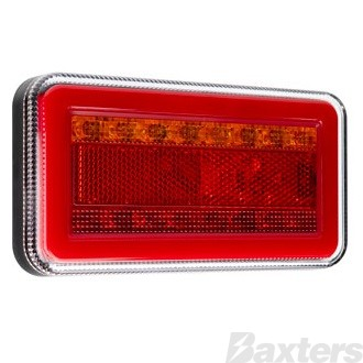 LED Rear Combination Lamp 10-30V Stop/Tail/Ind/Ref Surface Mount 150x80mm Twin Pack Glow Park Lamp & Sequential Indicator