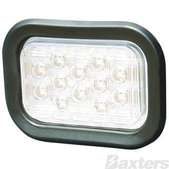 10-30V 22 LED Rectangular Grommet Mount Includes Grommet