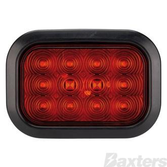 LED Stop/Tail Lamp BR161 Series 10-30V 22 LED Rectangular Grommet Mount Includes Grommet