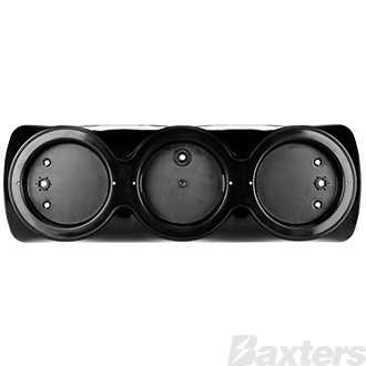 Mounting Bracket Triple Black Suits BR170 Series 440x145x45mm surface mount & Stud Mount Pre-Wired