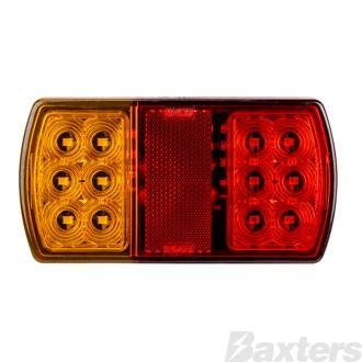 LED Rear Combination Lamp 10-30V Stop/Tail/Ind/Ref Surface Mount 150 x 80mm Single Blister