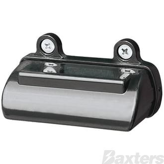 10-30V 6 LED Rect 81 x 41mm Top Mount Black Blister Packed