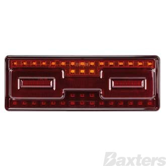 LED Rear Combination Lamp 10-30V Stop/Tail/Ind/Ref Surface Mount 275x100mm