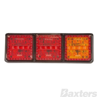 LED Rear Combination Lamp 10-30V Stop/Tail/Indicator/Ref 282x95x30mm Mini Jumbo