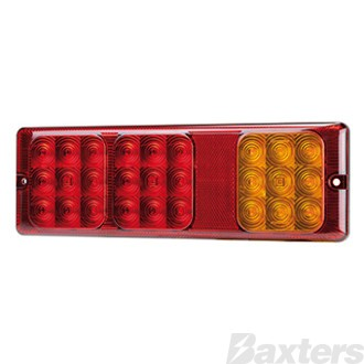 LED Rear Combination Lamp 10-30V Stop/Tail(x2)/Ind 300x100x20mm Surface Mount