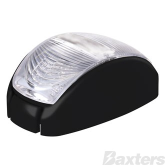 10-30V 2 LED Oval 60 X 35MM Clear Lens Black Base 2.5m Cable Blister Pack