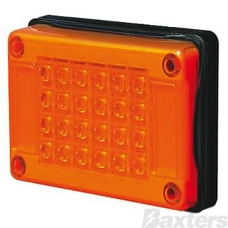 10-30V 24 LED Jumbo 202 x 132mm Amber Lens Surface Mount