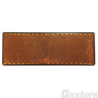 Reflector Amber Rect. BR61 Series Self Adhesive 88 X 35 X 9mm
