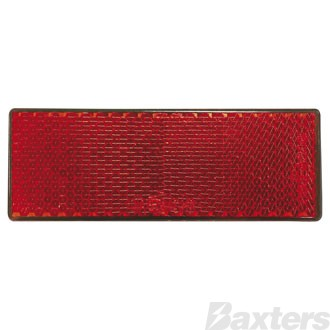 Reflector Red Rect. BR61 Series Self Adhesive 88 X 35 X 9mm