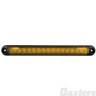 LED Indicator Lamp BR70 Series 10-30V 15 LED 252 X 28mm Strip Surface Mount
