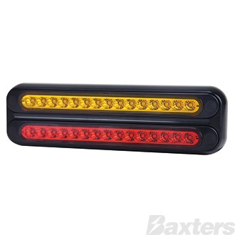 LED Rear Combination Lamp BR70 Series 10-30V Stop/Tail/Ind 266 x 78 x 26mm Twin Stud Mount
