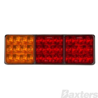 LED Rear Combination Lamp 10-30V Stop/Tail/Indicator 282x92x30mm