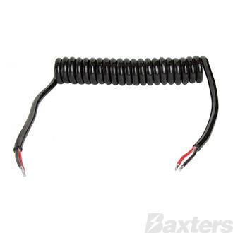 Suzi Coil 2 Pole Power Cable 2m 50A Bare 2x6mm Cable