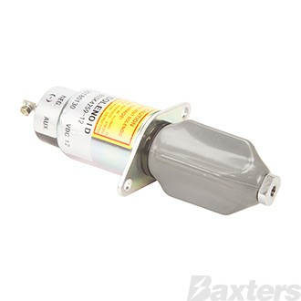 Shut Down Solenoid 12V Suits Kubota 3A Engine Replacement Solenoid only