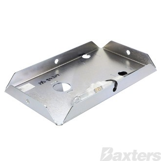 Battery Tray Suits Toyota Prado 120 Series 2002 - 2010 Laser Cut 2mm Steel Zinc Coated 310 x 180mm