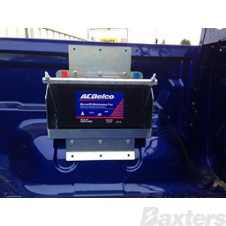 Battery Box Suits Ford Ranger PX Gen2 XL & XLS Multi Fit Battery Box Tub Mount C/W Hardware To Suit Suits Ford Ranger 2011 - ON (No Tub Liner)
